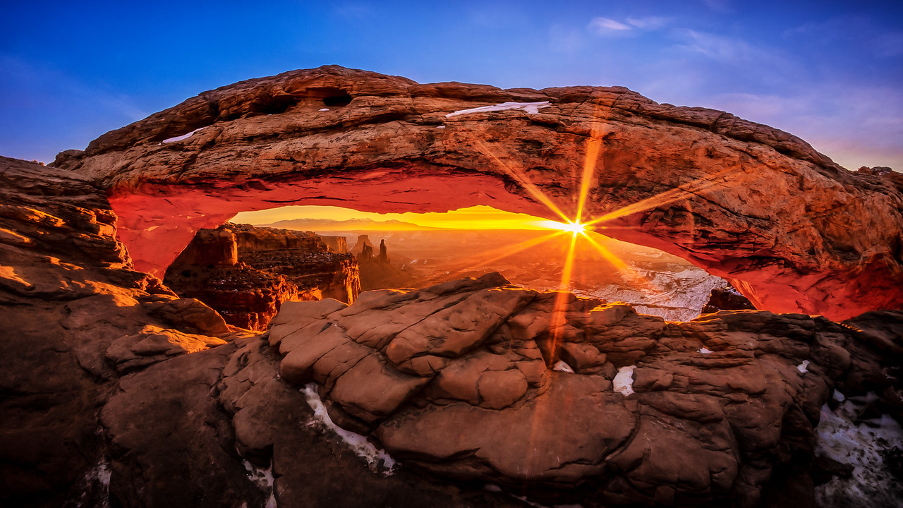 Mesa Arch at Sunrise<br /> Canyonlands NP