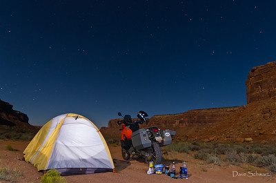 Alone Under the Stars in John's Canyon, Southern Utah