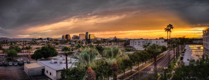 282 - Sunset in Phoenix After a Rainy Day   This is yet another HDR Panorama from 6 exposures.