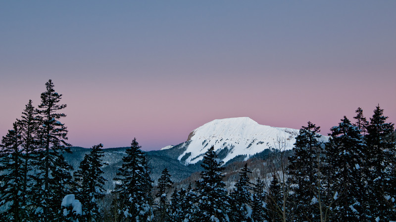 A view from US550 The San Juan Mountains in Frigid Pre-dawn Light, Colorado