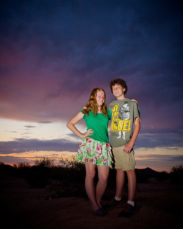 168 - Nikki & Matthew at Sunset  Shot with my little Olympus PEN and Cactus V5 flash triggers.