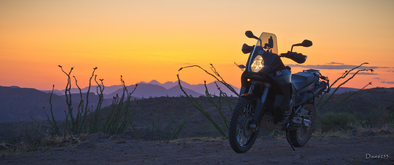 The KTM and Arizona Sunset