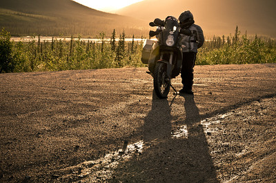 Helen Checks the Maps - The Dalton Highway, Alaska