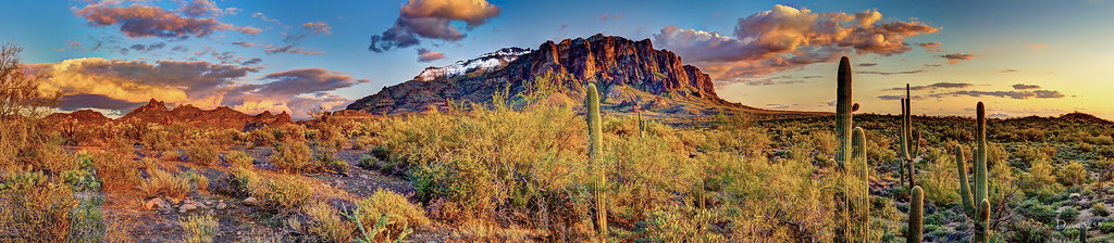 HDR Panorama of the Superstition Mountains