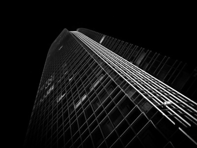 Devon Tower at Night B&W