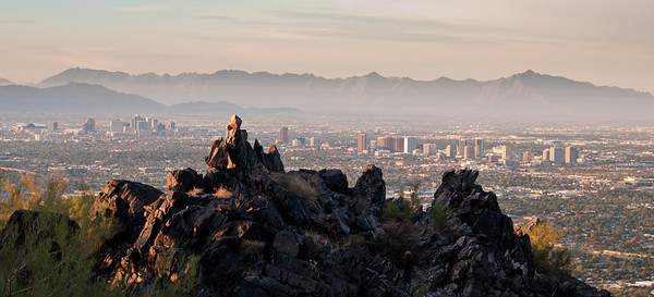 Phoenix Morning from Squaw Peak Trail