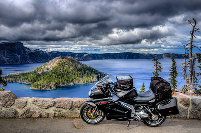 Aprilia RST1000 Futura at Crater Lake