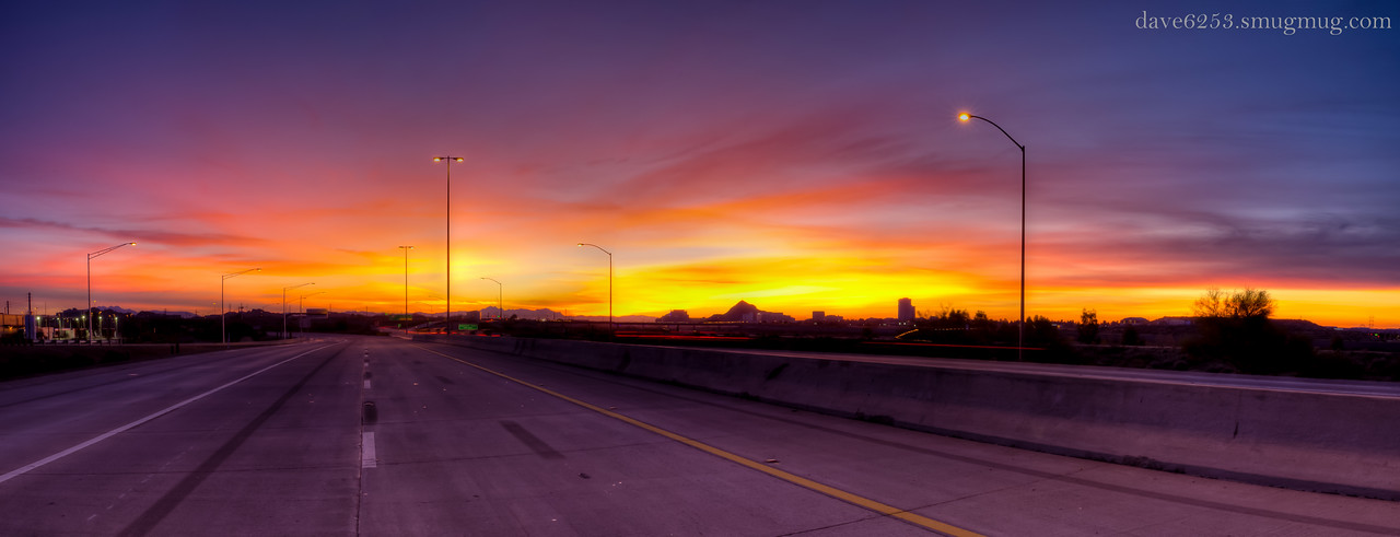 64 - There was an explosion of color just before sunrise this morning. This is another HDR panorama comprised of 10 exposures.