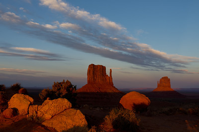 Mittens - Monument Valley Sunset